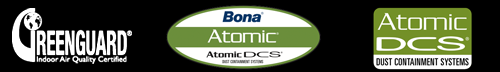 Greenguard indoor air quality certified and Bona Atomic DCS
